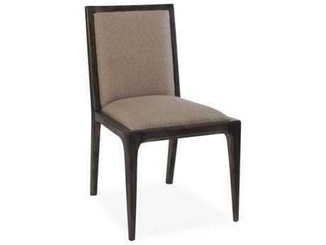 Brownstone Furniture Messina Smokey Brown & Pearl Linen Dining Side Chair