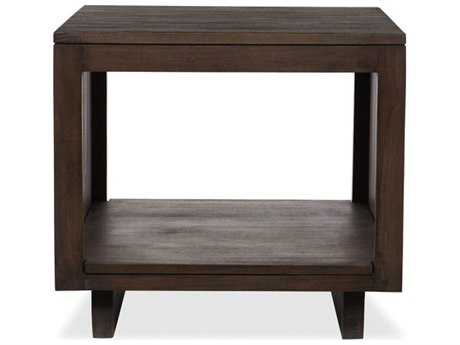 Brownstone Furniture Messina Slat 24'' Square Smokey Brown End Table BRNME507
