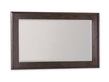 Brownstone Furniture Messina 50''W x 33''H Rectangular Smokey Brown Wall Mirror BRNME019