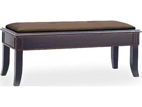 Brownstone Furniture Metropolitan Espresso and Antique Gold Crackle Trim & Fudge Linen Accent Bench BRNMTS012