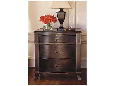 Brownstone Furniture Metropolitan Espresso and Antique Gold Crackle Trim Nightstand with Pull-out Tray BRNMTS105