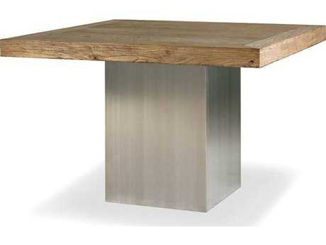 Brownstone Furniture Monterey 47'' Square Elm & Stainless Steel Dining Table BRNMN302