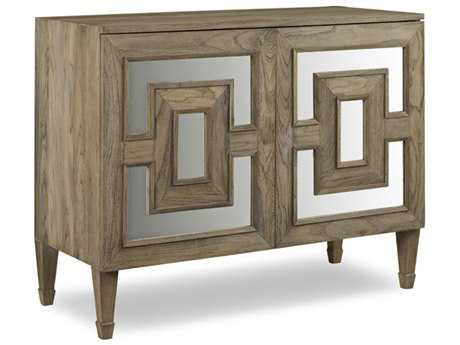 Brownstone Furniture Palmer Mirrored Teak Driftwood Accent Chest