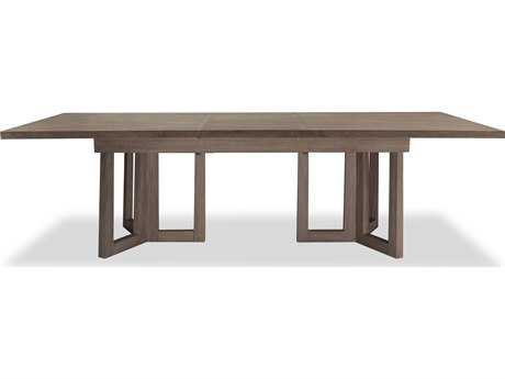 Brownstone Furniture Palmer 100''L x 41''W Rectangular Driftwood Extension Dining Table BRNPL302