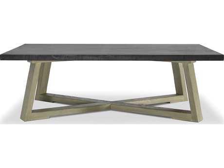 Brownstone Furniture Saratoga 54''L x 32''W Rectangular Smoke & Driftwood Gray Coffee Table