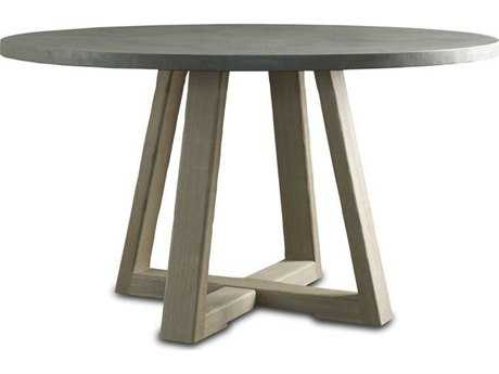 Brownstone Furniture Saratoga 54'' Round Smoke & Driftwood Gray Dining Table BRNSR301