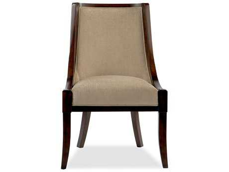 Brownstone Furniture Sienna Chestnut & Textured Pumice Fabric Dining Side Chair BRNSNB202