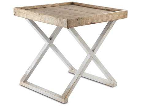 Brownstone Furniture Sutton 24'' Square Reclaimed Pine End Table BRNSU500