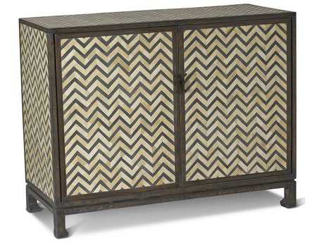 Brownstone Furniture Tangier Natural & Charcoal Gray Bone Accent Chest