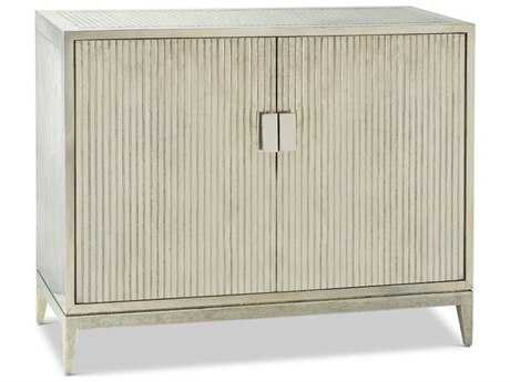 Brownstone Furniture Treviso 45''L x 19''W German Silver Ribbed Accent Chest Cabinet BRNTR001