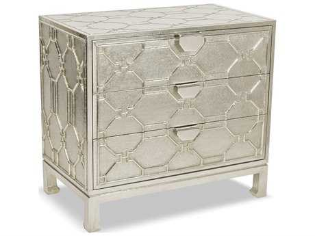 Brownstone Furniture Treviso 45''L x 19''W German Silver Chest of Drawers BRNTR003