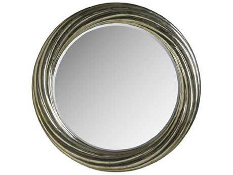 Brownstone Furniture Treviso 35.5'' Round German Silver Wall Mirror BRNTR018