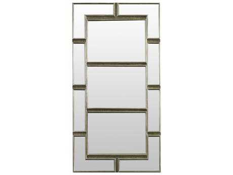 Brownstone Furniture Treviso 32''L x 61''W Rectangular German Silver Wall Mirror BRNTR022