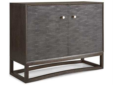 Brownstone Furniture Viceroy 46''L x 18''W Rectangular Faux Shagreen with Brushed White Oak Accent Chest BRNVC001