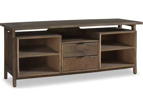 Brownstone Furniture Winston 60''L x 24''W Rectangular Natural Elm & Gun Metal TV Stand BRNWN216