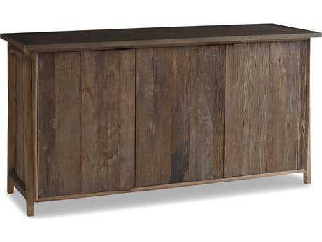 Brownstone Furniture Winston 68''L x 24''W Rectangular Natural Elm & Gun Metal Server BRNWN305