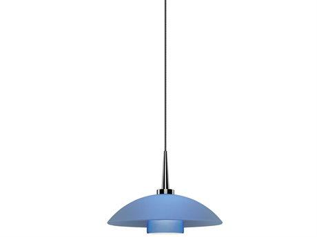 Bruck Lighting Jas Blue Glass 7'' Wide LED Mini Pendant Light BK223912BL