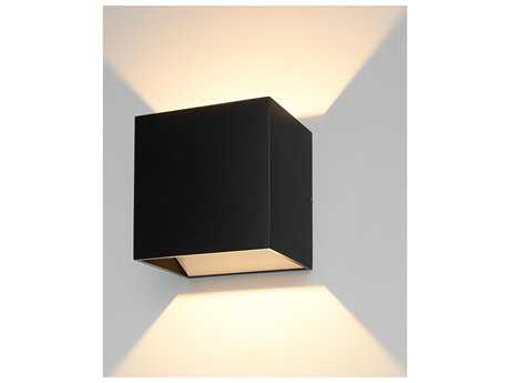 Bruck Lighting QB Anthracite LED Outdoor Wall Light BK105040BK