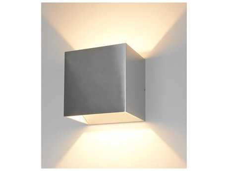 Bruck Lighting QB Silver LED Outdoor Wall Light BK105040SV