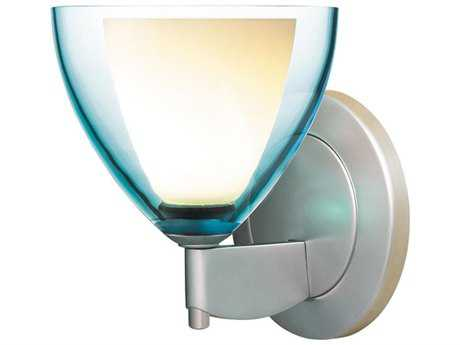 Bruck Lighting Rainbow Turquoise Glass LED Wall Sconce BK104728
