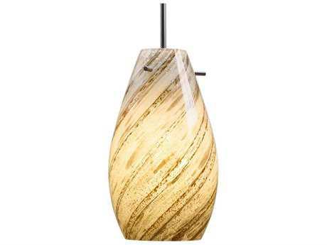 Bruck Lighting Soho Sea Shell Glass 6'' Wide Incandescent Mini Pendant Light BK110811IN