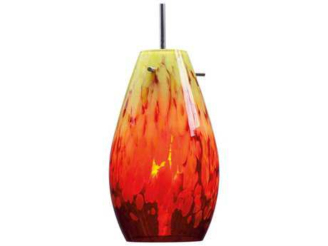 Bruck Lighting Soho Yellow and Red Glass 6'' Wide Incandescent Mini Pendant Light BK110813IN