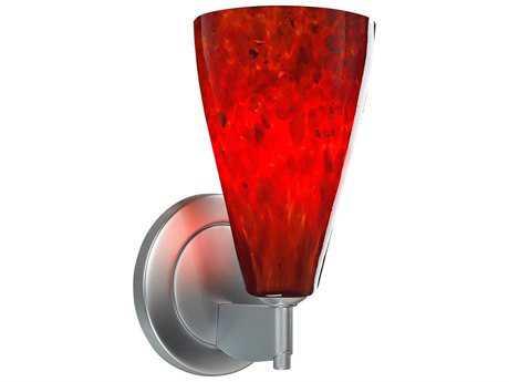 Bruck Lighting Zara- Red Glass LED Wall Sconce BK104303
