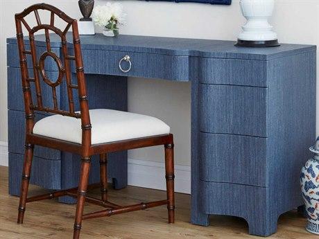 Bungalow 5 Bouquet Navy Blue 55''W x 20''D Rectangular Secretary Desk BUNBOU35068TB