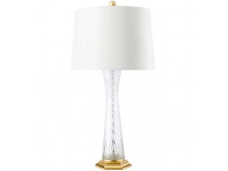 Bungalow 5 Clear & Gold Leaf Glass Buffet Lamp BUNFAR800808