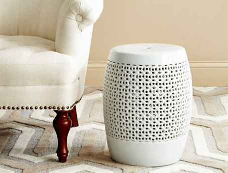 Bungalow 5 Chantilly White Accent Stool BUNCNL500109