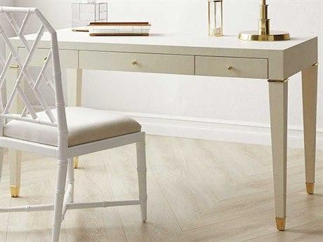Bungalow 5 Claudette White 54''W x 26''D Rectangular Secretary Desk BUNCLU3505129