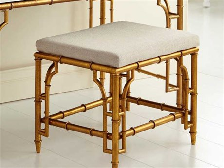 Bungalow 5 Collette Gold Leaf Accent Stool BUNCOL500808
