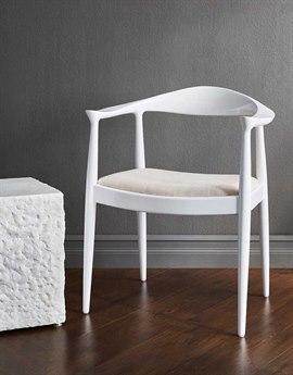Bungalow 5 Danish White Dining Arm Chair BUNDAN55509