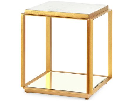 Bungalow 5 White 15'' Wide Square End Table BUNABB100849