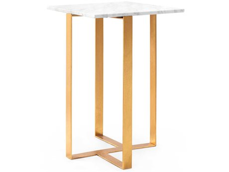 Bungalow 5 White 16'' Wide Square End Table BUNEQL100849