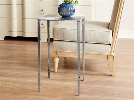 Bungalow 5 Eugene Polished Nickel 14'' Wide Square End Table BUNEUG102807