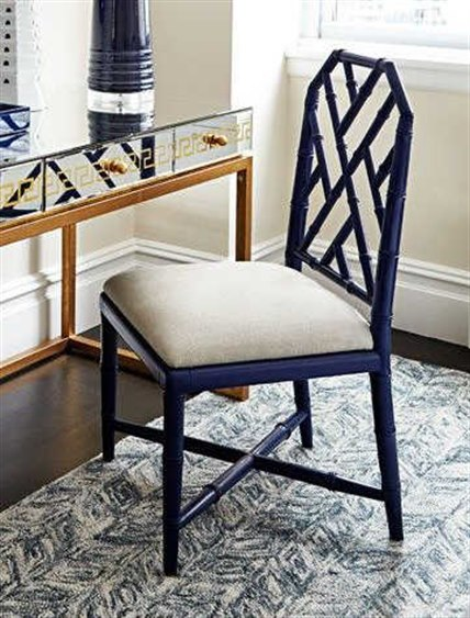 Bungalow 5 Jardin Navy Blue Dining Side Chair