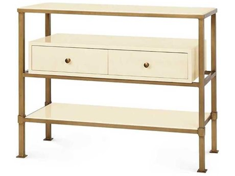 Bungalow 5 Marcel White / Bronze 39''W x 15''D Rectangular Console Table BUNMRC400699