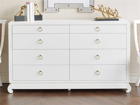 Bungalow 5 Ming White Eight-Drawer Double Dresser BUNMNG25059