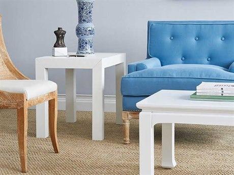 Bungalow 5 Parsons White 30''W x 20''D Rectangular End Table