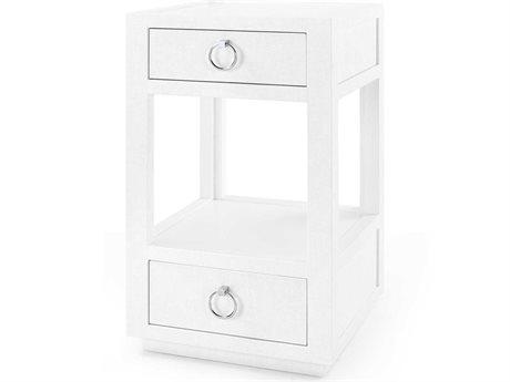 Bungalow 5 White 2 Drawers Nightstand BUNCAM12059