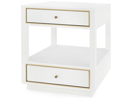 Bungalow 5 White 2 Drawers Nightstand BUNCMN1205199