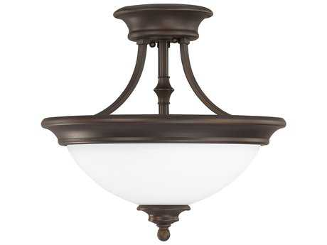 Capital Lighting Belmont Burnished Bronze Two-Light 14.5'' Wide Semi-Flush Mount Light