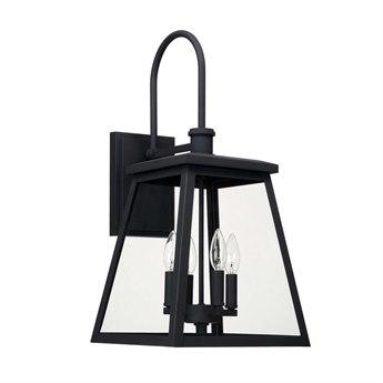 Capital Lighting Belmore Black Four-Lights 12'' Wide Outdoor Wall Lantern