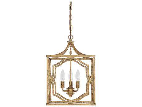 Capital Lighting Blakely Antique Gold Three-Light 12'' Wide Pendant Light
