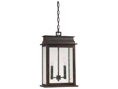 Capital Lighting Bolton Old Bronze Two-Light 12'' Wide Outdoor Hanging Light C29666OB