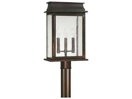 Capital Lighting Bolton Old Bronze Three-Light 12'' Wide Outdoor Post Light C29665OB