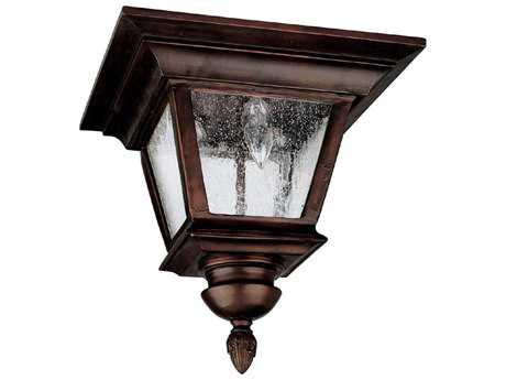 Capital Lighting Brookwood Burnished Bronze Three-Light 11.5'' Wide Outdoor Ceiling Light C29968BB