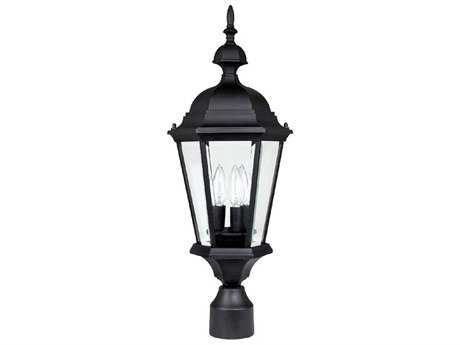 Capital Lighting Carriage House Black Three-Light 9.5'' Wide Outdoor Post Light