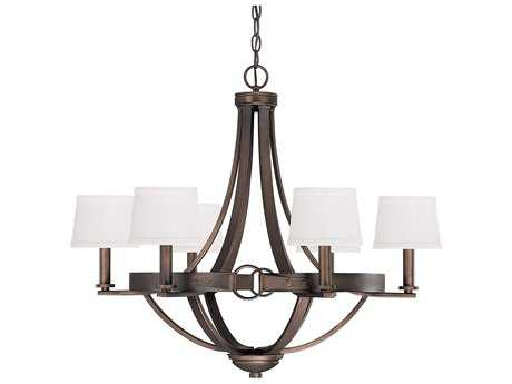 Capital Lighting Chastain Tobacco Six-Light 29'' Wide Chandelier